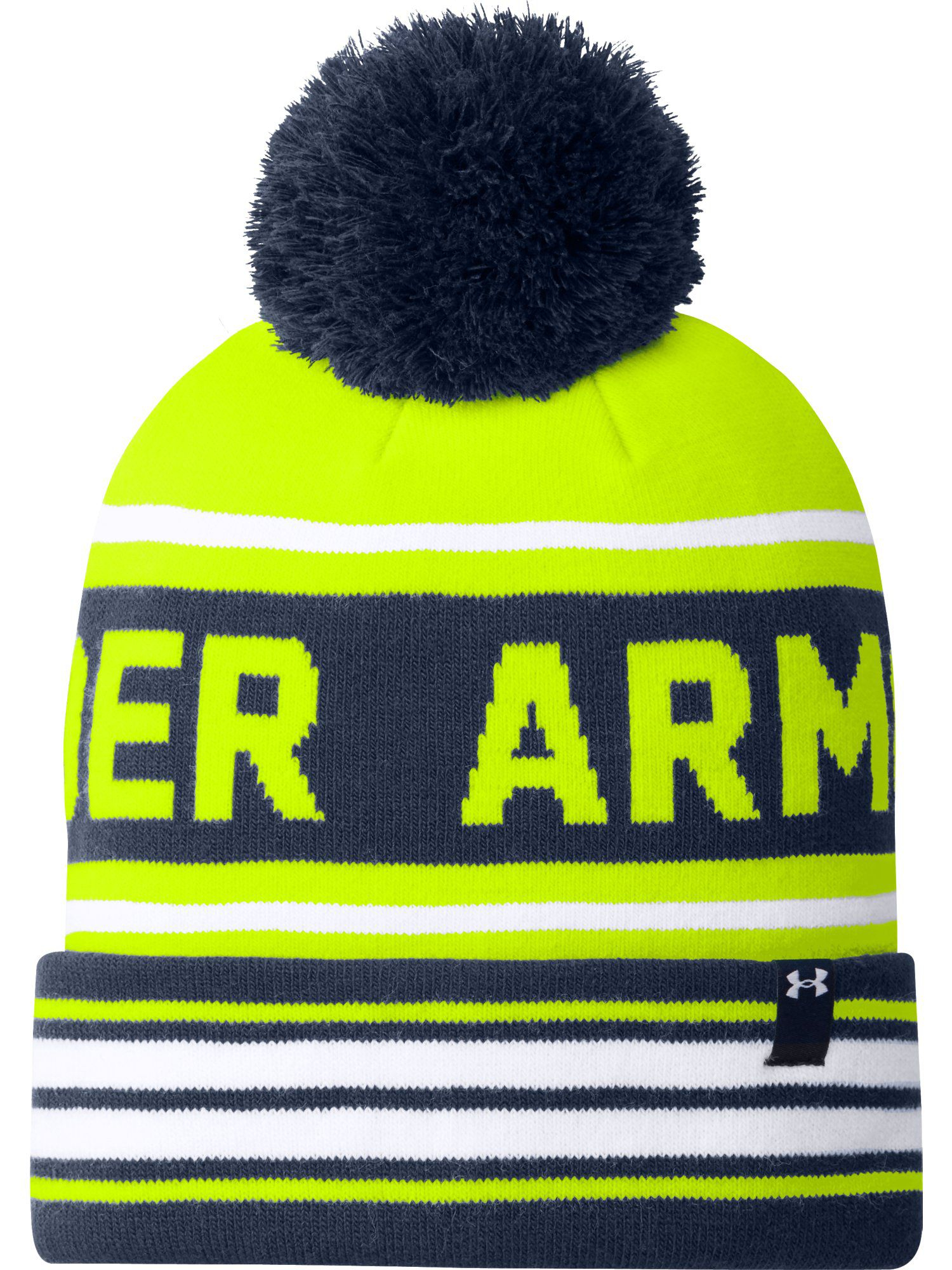 588f75d42cd ... free shipping under armour retro pom beanie in orange for men lyst  024e2 f8e12 ...