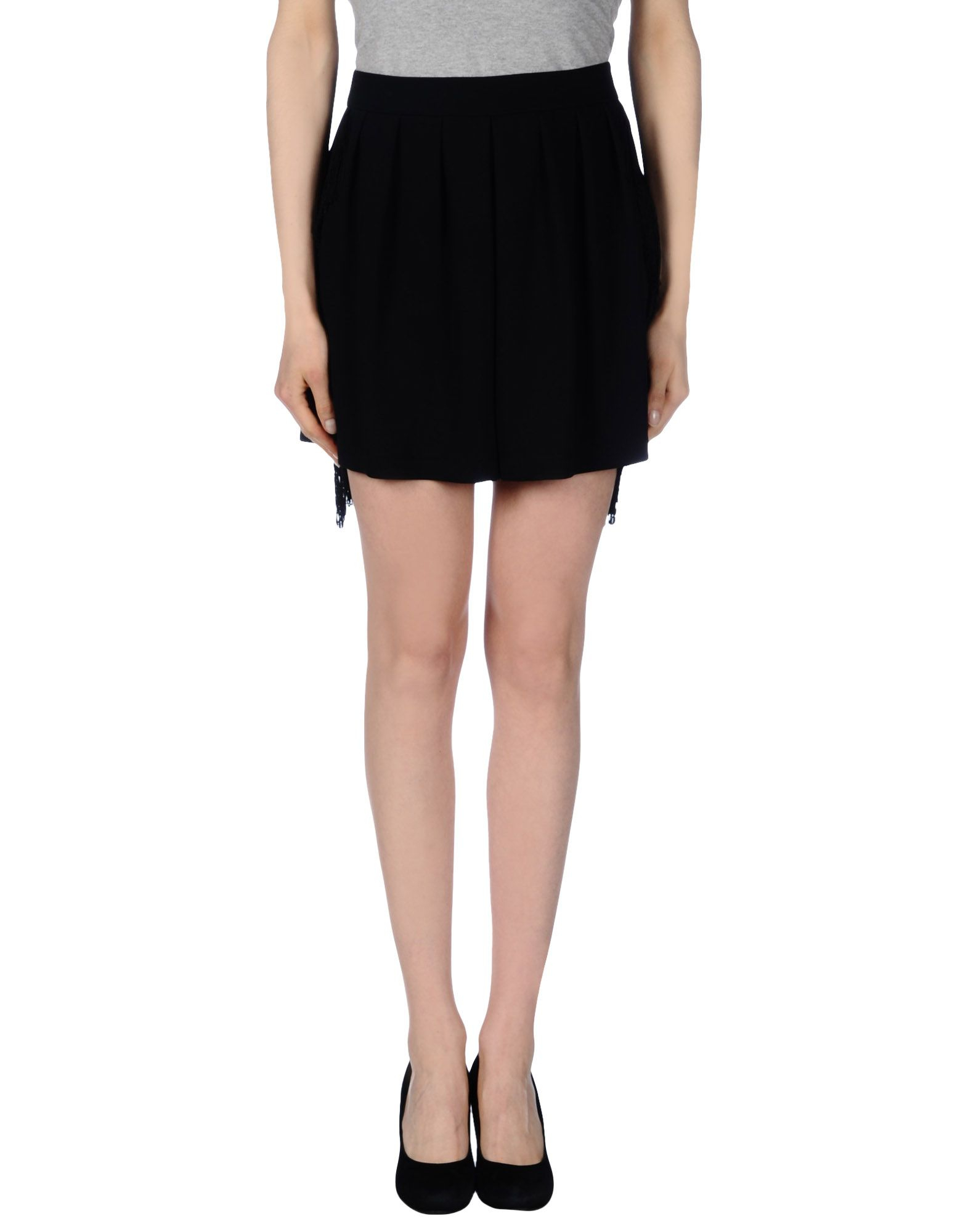 pinko mini skirt in black lyst