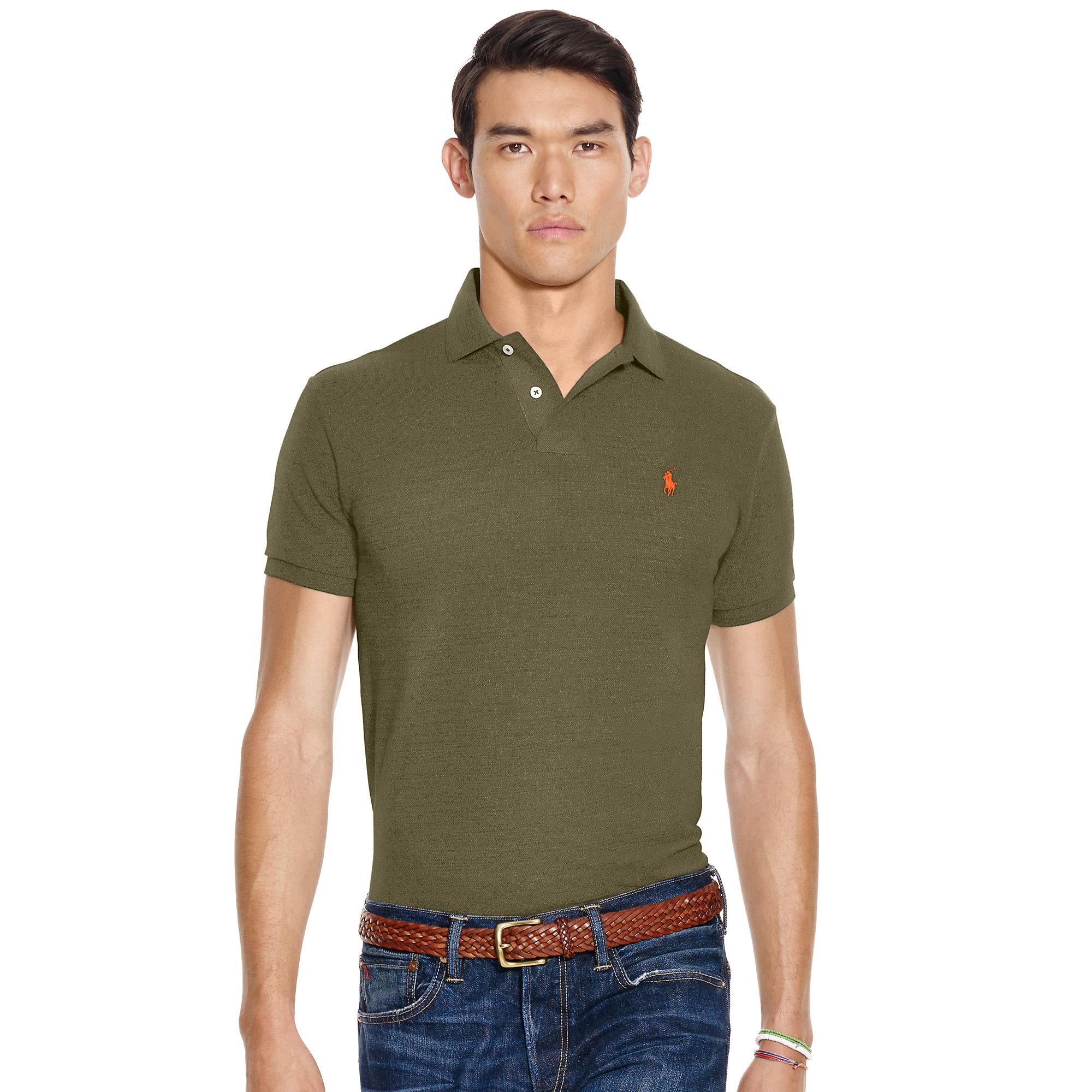 Lyst polo ralph lauren custom fit military polo shirt in for Polo ralph lauren custom fit polo shirt