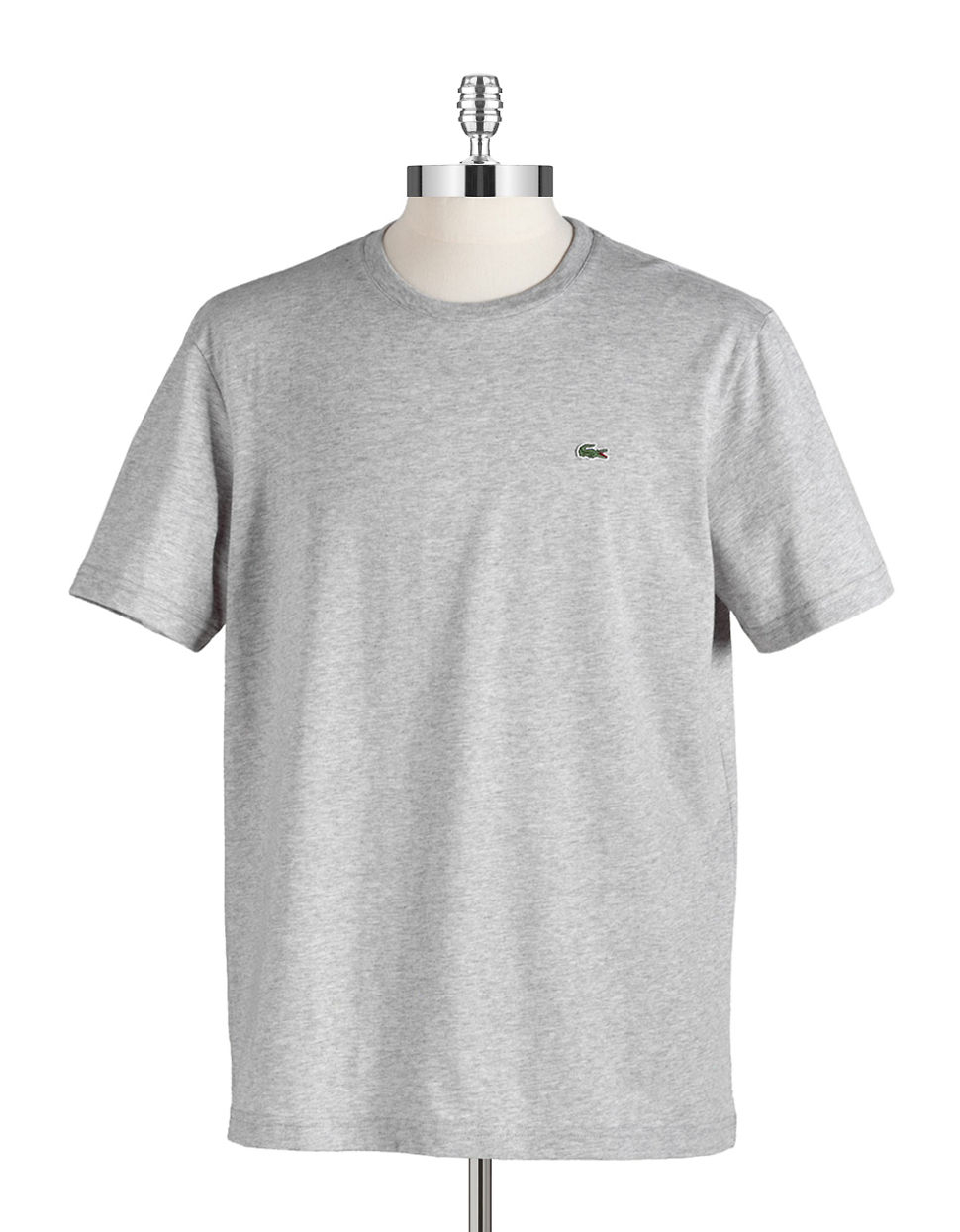 Lacoste Pima Cotton T Shirt In Gray For Men Grey Lyst