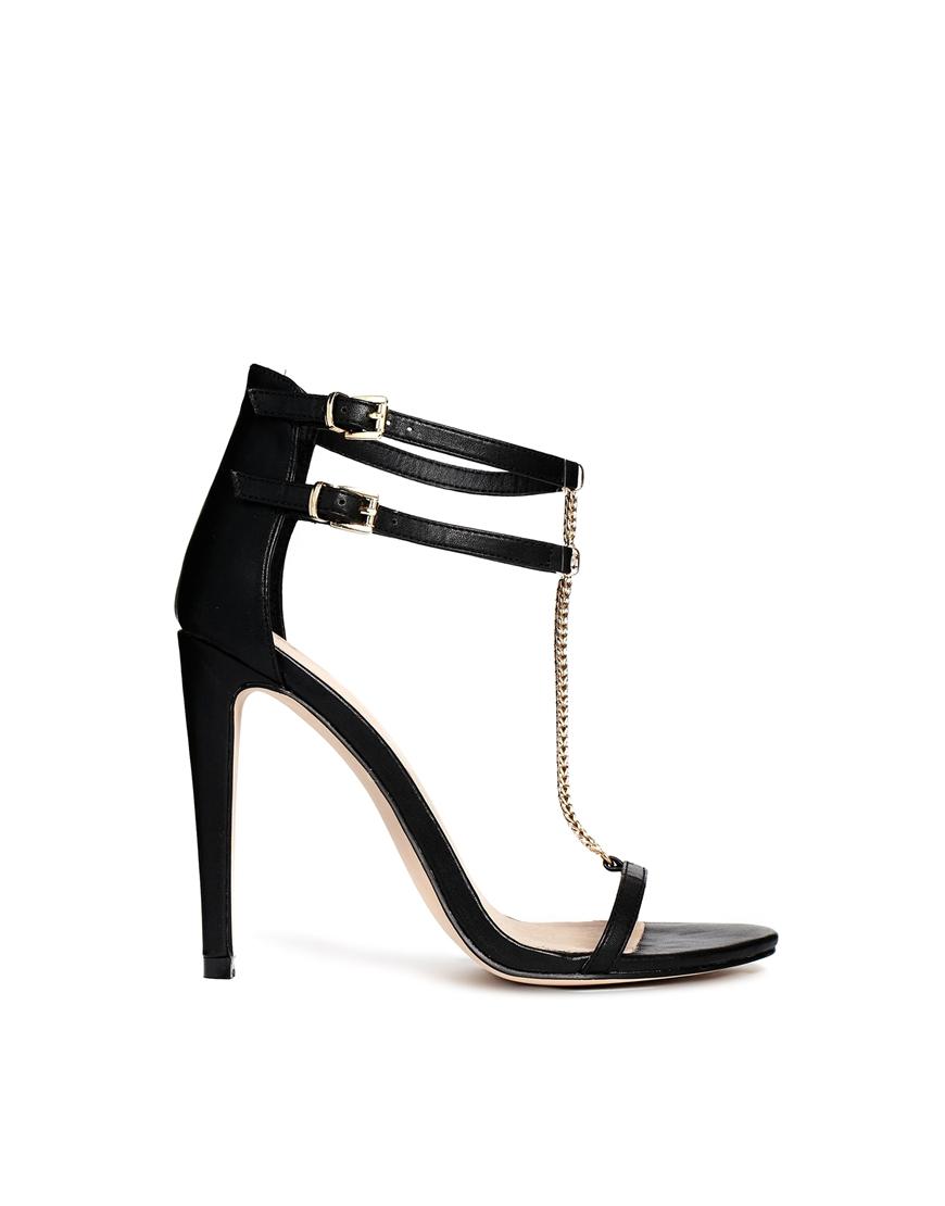 asos head hunter heeled sandals in black lyst gallery