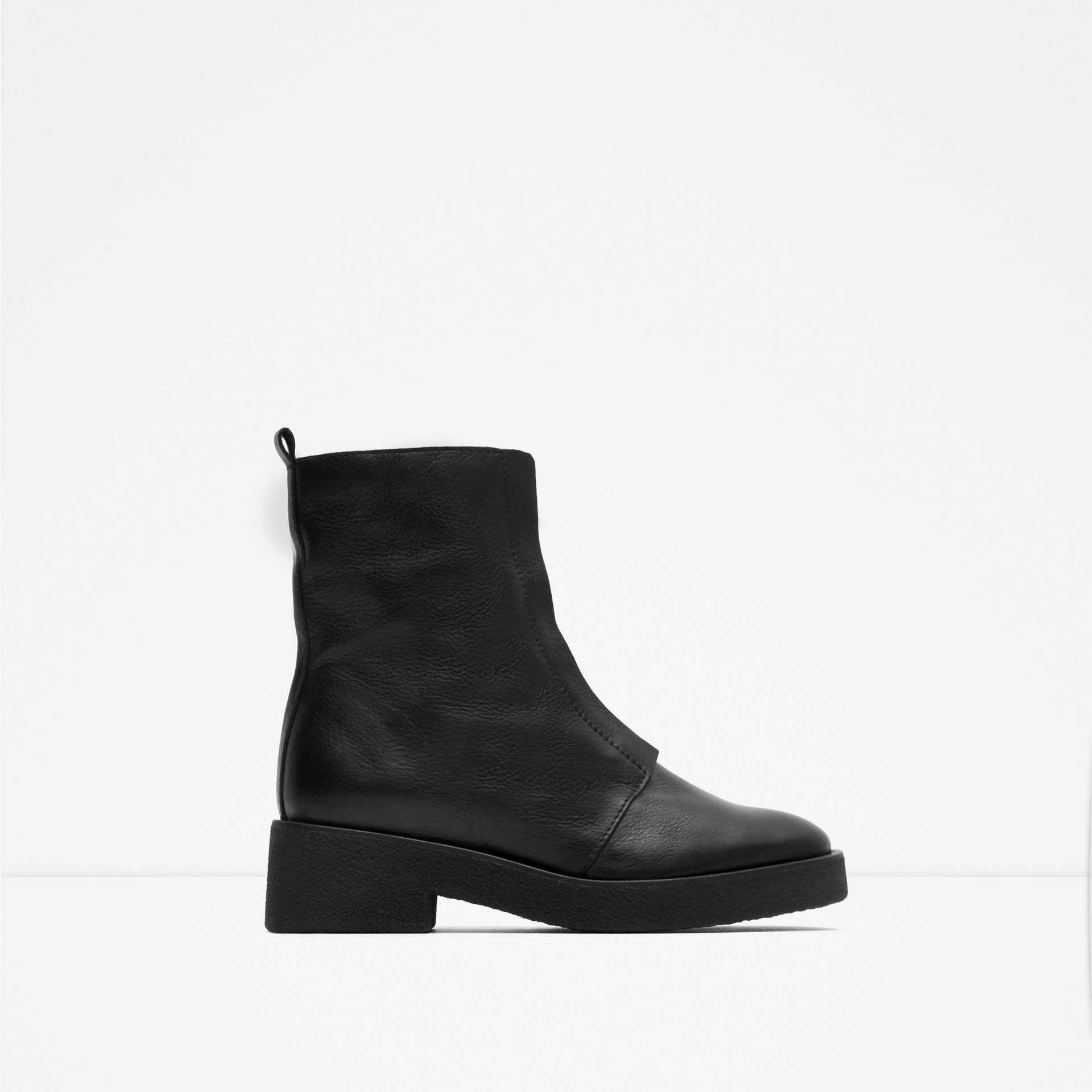 Zara Ankle Boots With Zip in Black for Men | Lyst