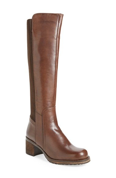 dune leather knee high boots in brown lyst