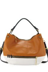 Oryany Olivia Colorblock Zip Hobo Bag - Lyst