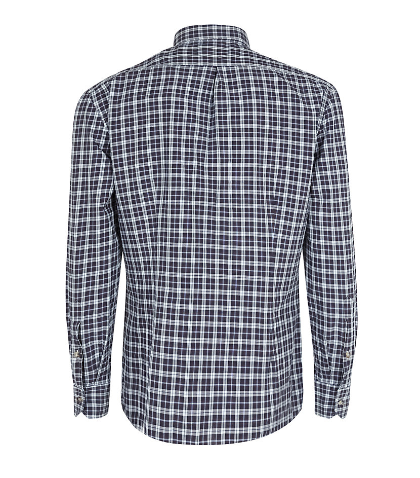 Lyst brunello cucinelli slim fit check shirt in black for Slim fit check shirt