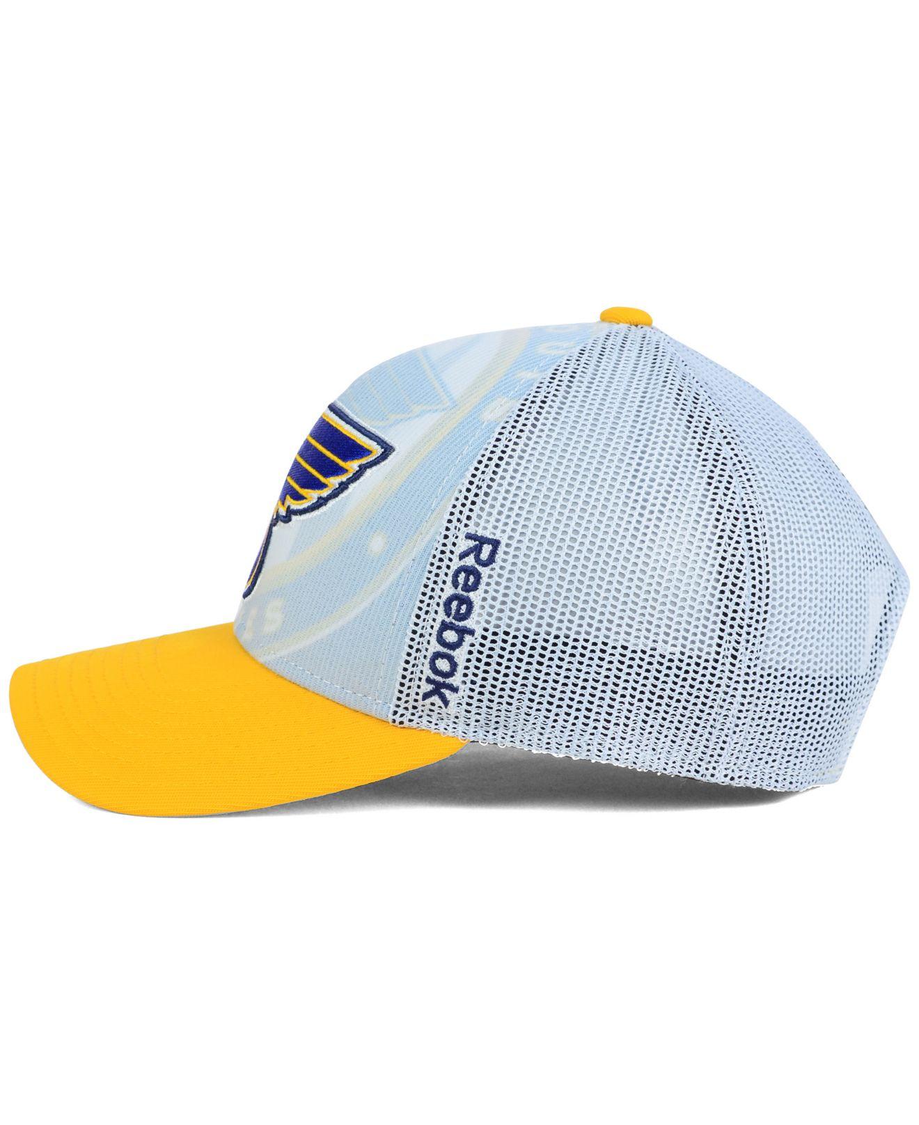 online store fc39c 5cfbe ... sale lyst reebok st. louis blues secondary draft cap in blue for men  87833 e7004
