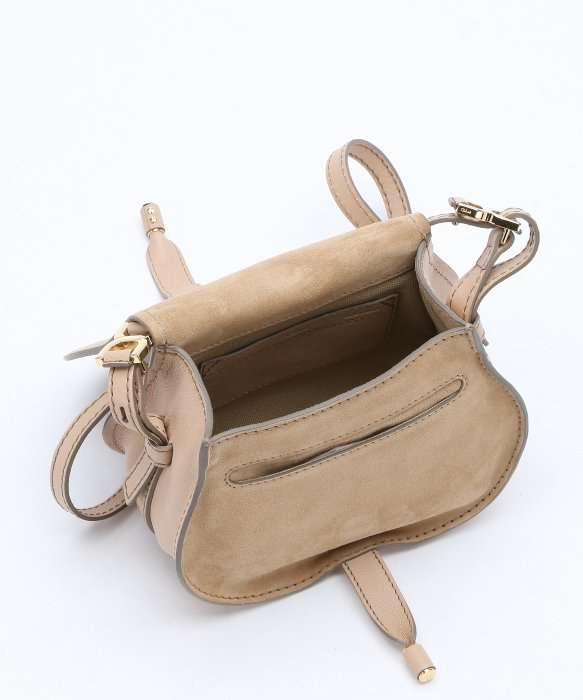 Chlo¨¦ Beige Calfskin \u0026#39;marcie Nude\u0026#39; Small Saddle Bag in Beige | Lyst