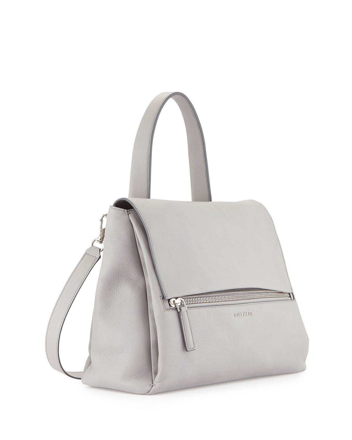 0eefb5f26794 Lyst - Givenchy Pandora Pure Medium Calf Leather Satchel Bag in Gray