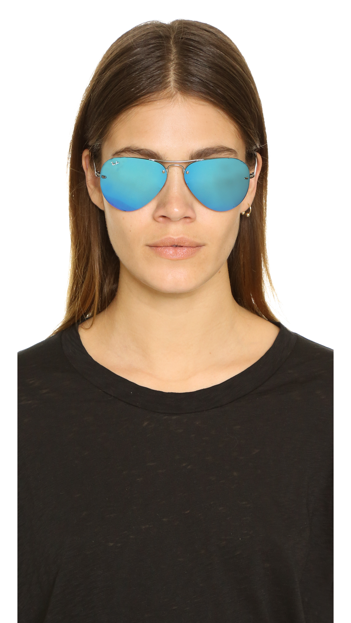 Sunglasses High Street  ray ban highstreet mirrored aviator sunglasses in blue lyst