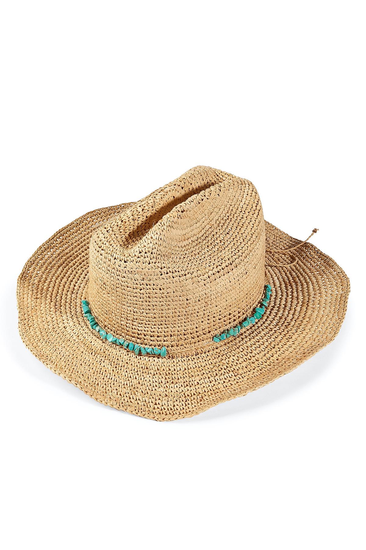 Melissa Odabash Elle Cowboy Hat in Blue - Lyst f7f5241ca949