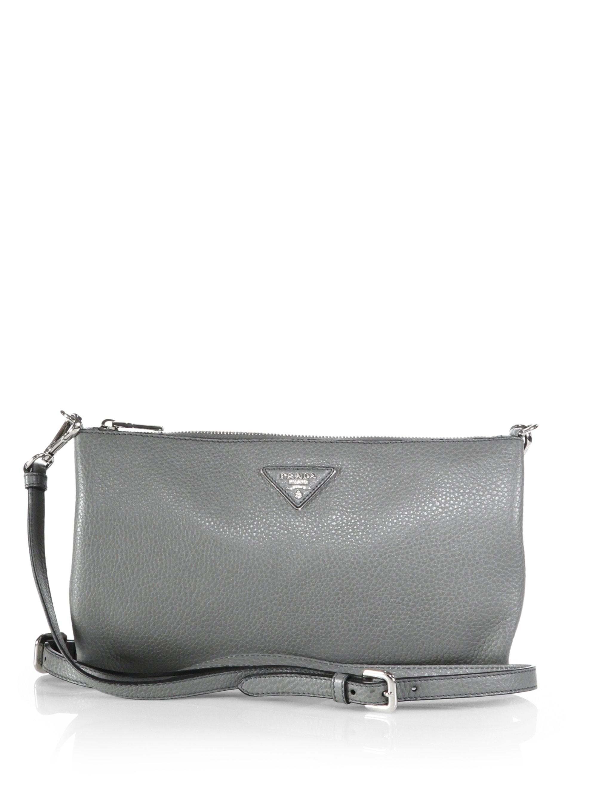 ade9e468e4b7 Prada Daino Small Leather Crossbody Bag