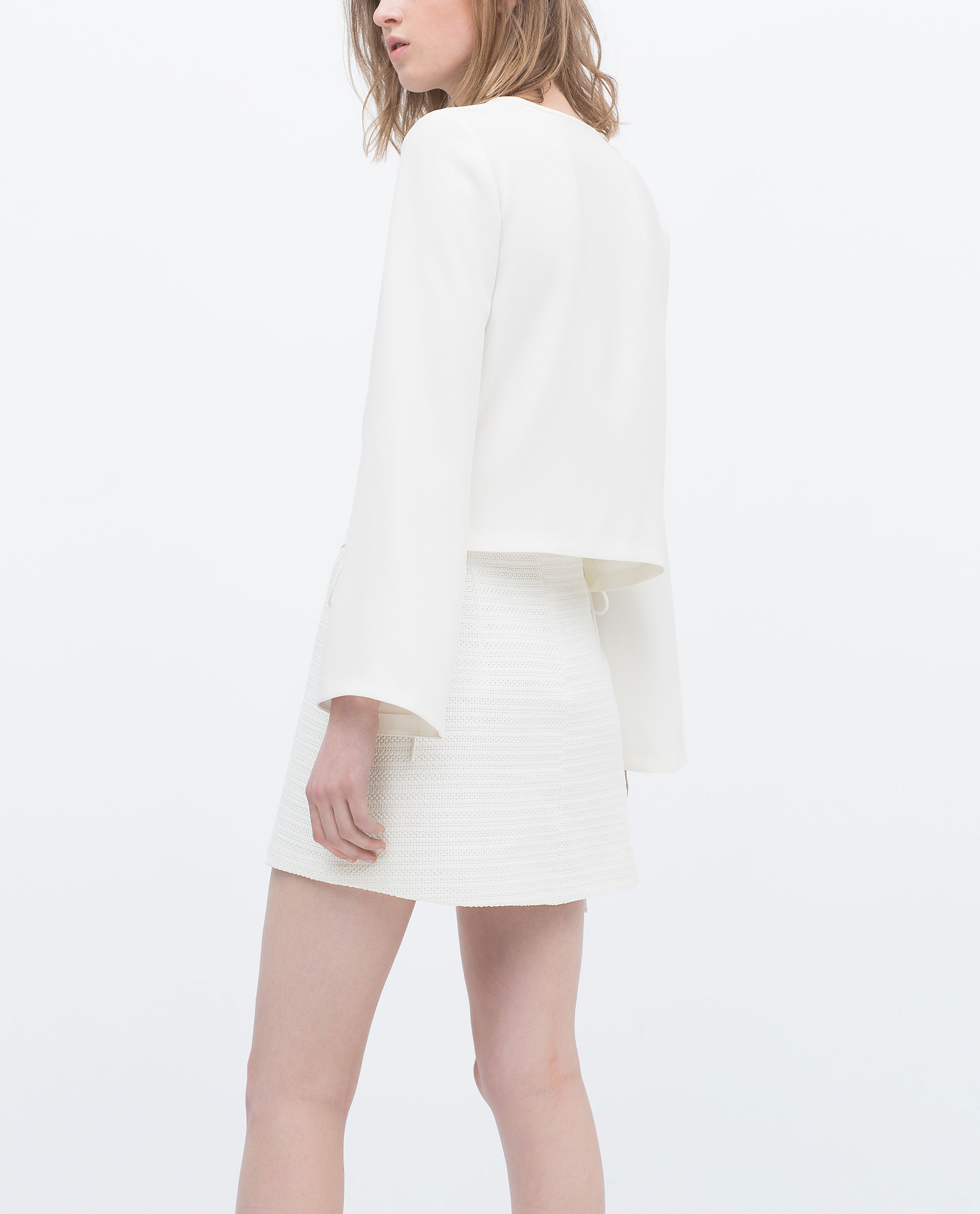 zara a line mini skirt a line mini skirt in white lyst