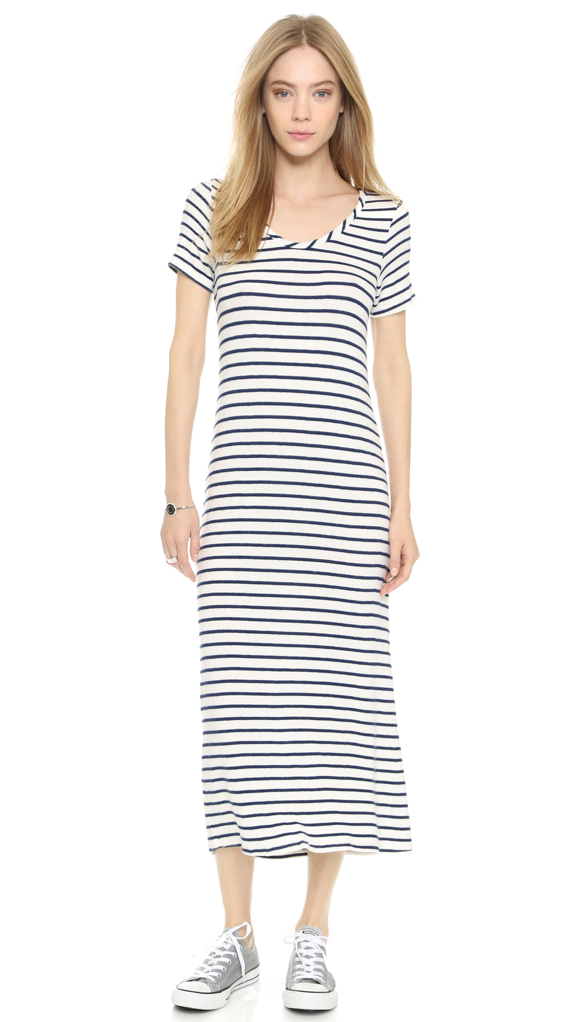 Hye Park and Lune Capella Stripe Dress in White - Lyst 42b338e03