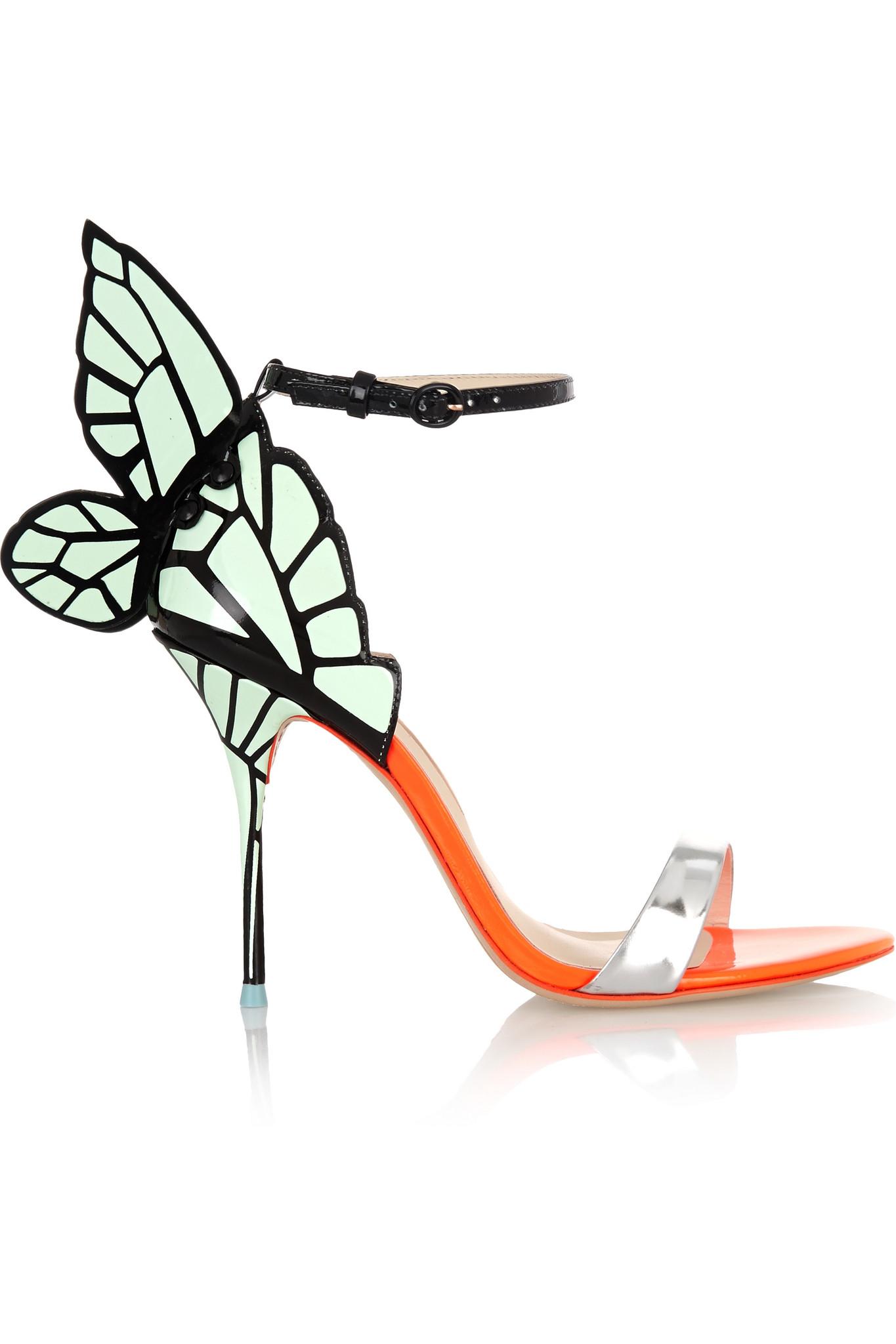 65f8b42fa14 Sophia Webster Chiara Neon Patent-leather Sandals in Metallic - Lyst