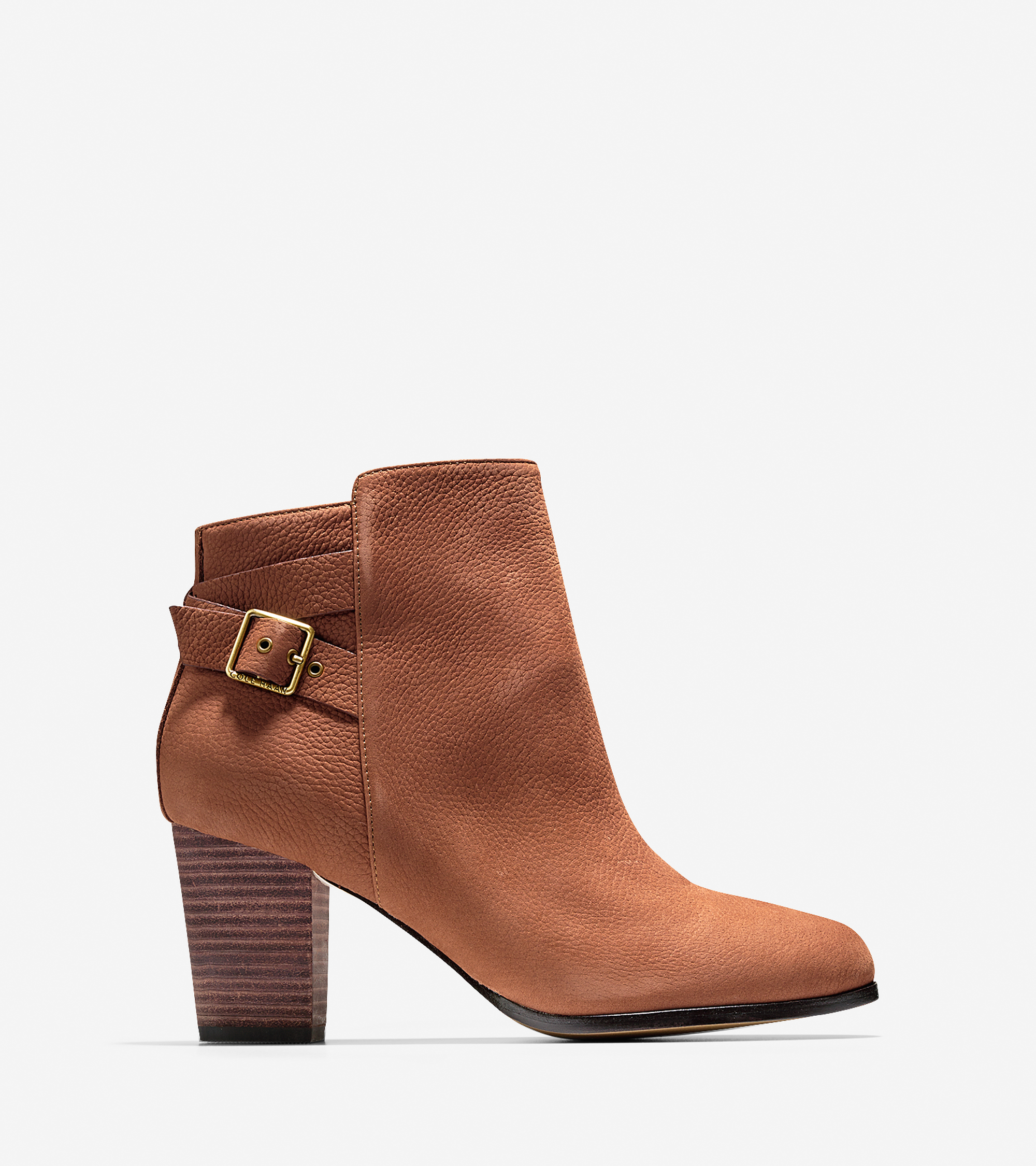 cole haan cassidy buckle bootie 70mm in brown lyst