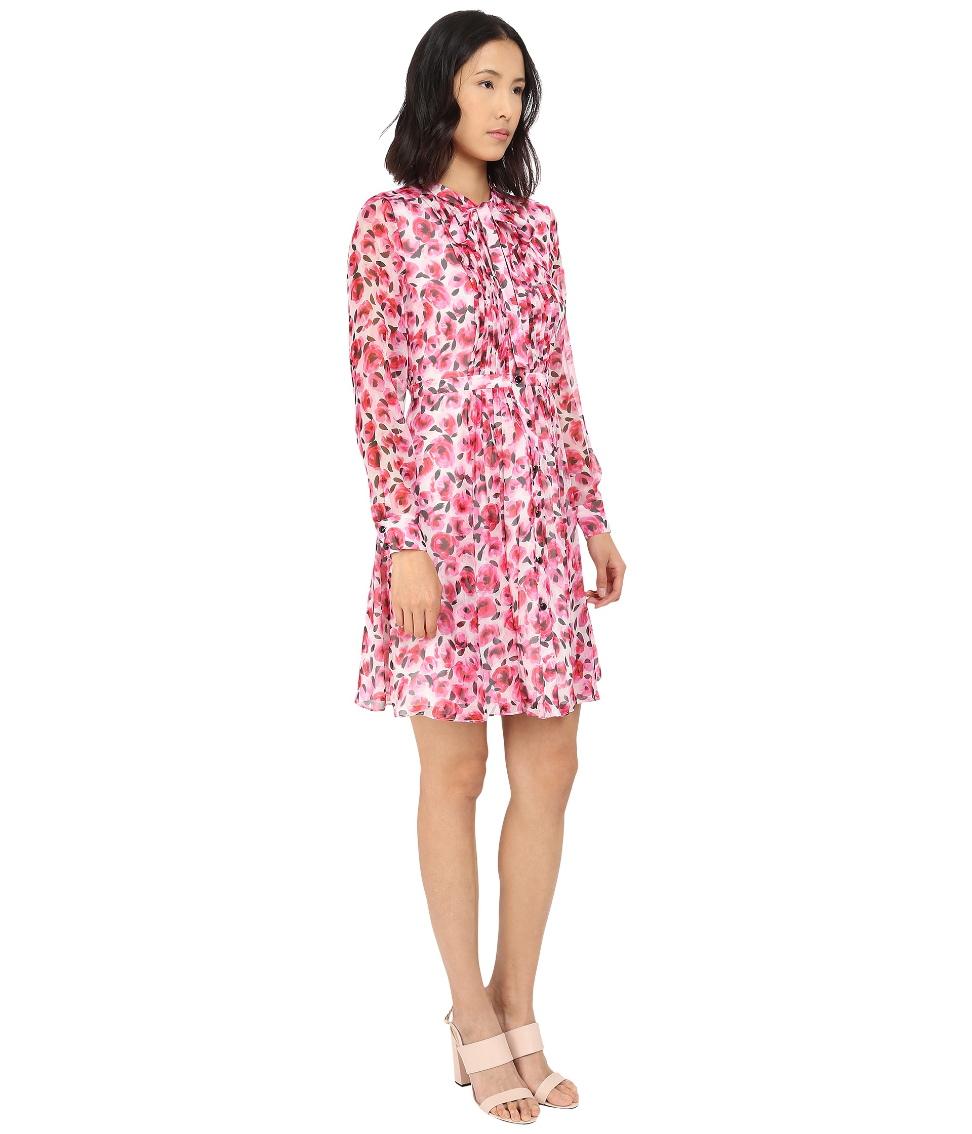 cc35ecdcd0 kate spade new york - Multicolor Mini Rose Pleated Shirtdress - Lyst