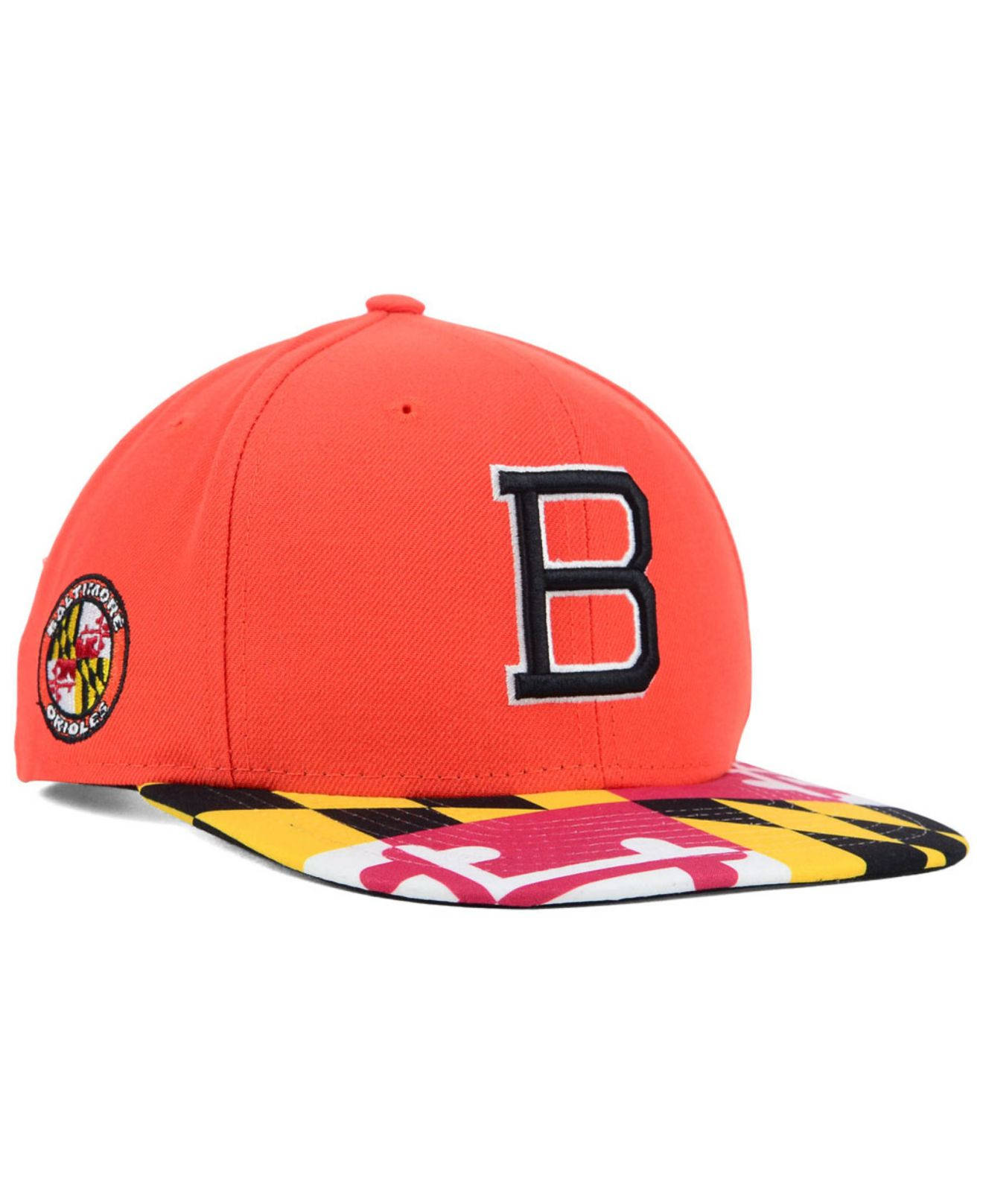 meet e1abe bfe85 ... germany lyst ktz baltimore orioles flag up 9fifty snapback cap in  orange 189bd 31d40