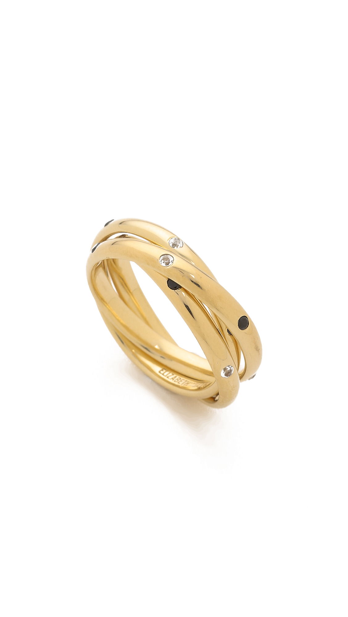 Elizabeth & James Darcy Ring in Metallic Gold bkVWJtSB