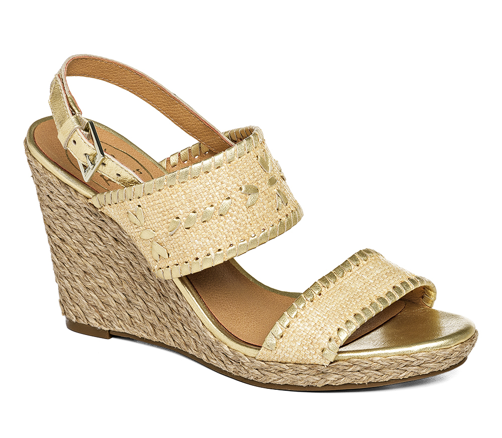 a8c65812a8ad Lyst - Jack Rogers Vanessa Wedge in Metallic