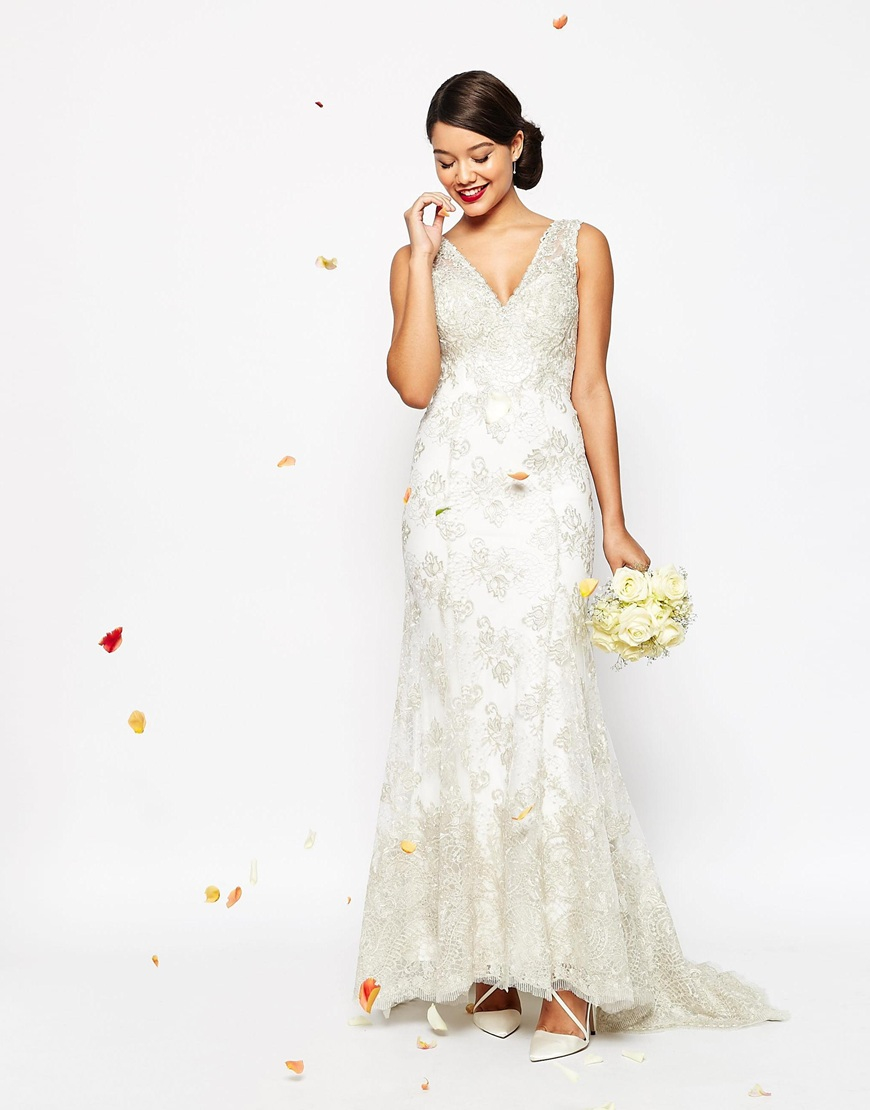 asos wedding dress asos bridal vintage lace button back fishtail maxi dress 1393