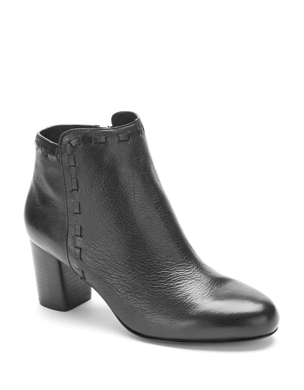 via spiga basil highheeled leather boots in black lyst