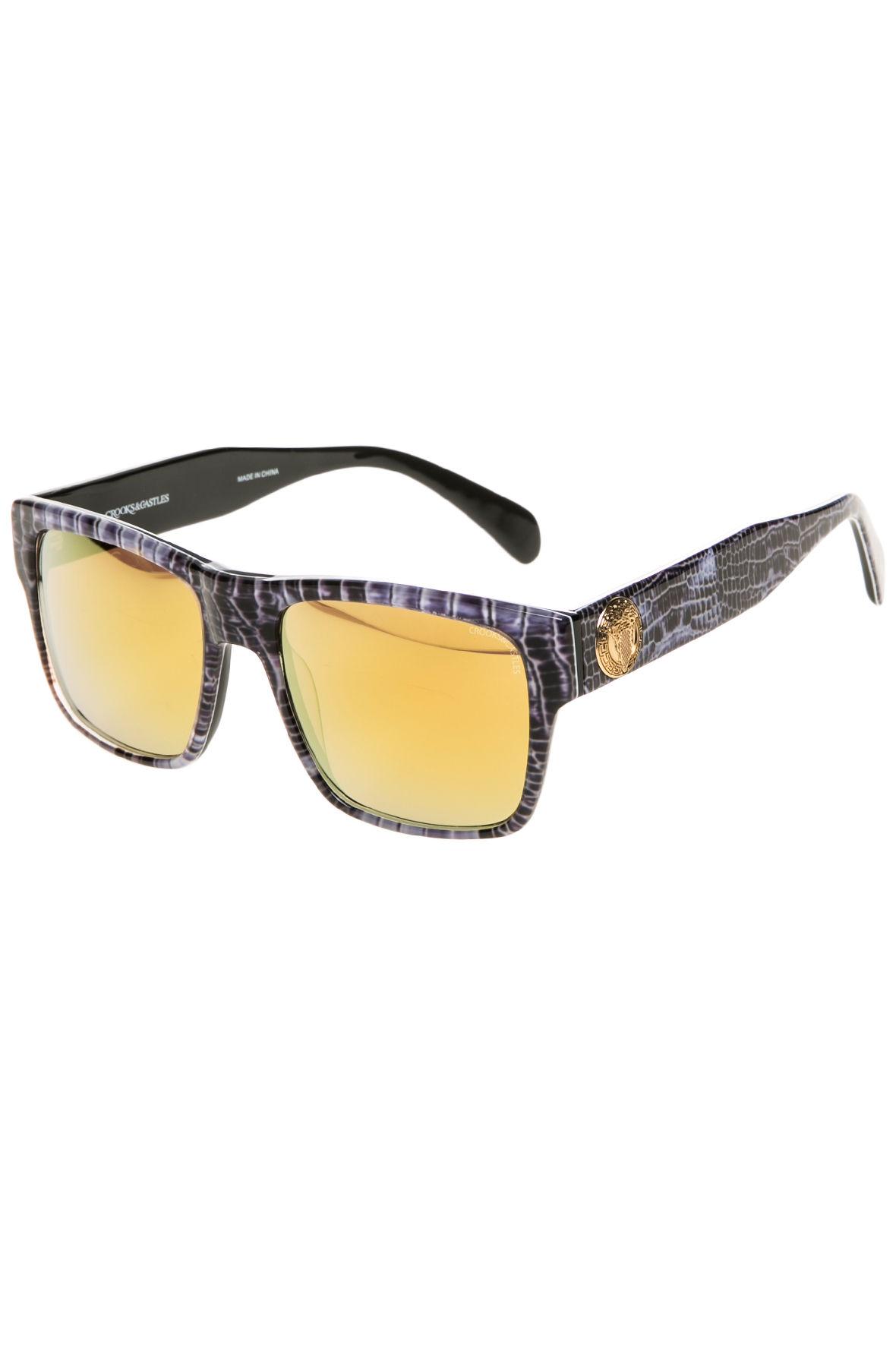 dbbcfec8da255 Lyst - Crooks and Castles The Violento Sunglasses in Yellow for Men