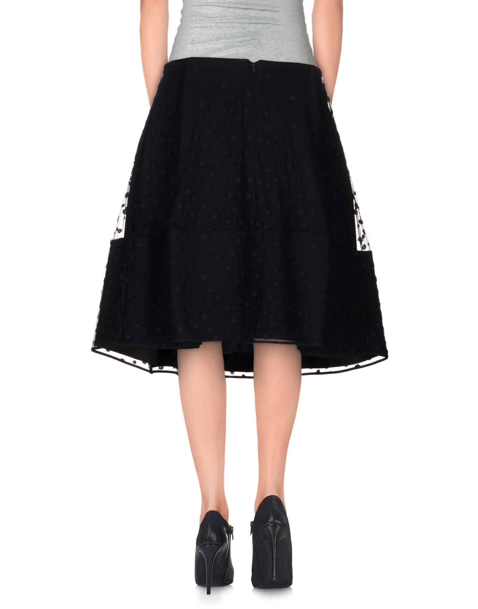chlo 233 knee length skirt in black lyst