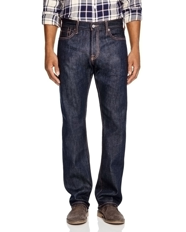 Jean shop Rocker Raw Straight Fit Jeans In Raw Indigo in Blue | Lyst