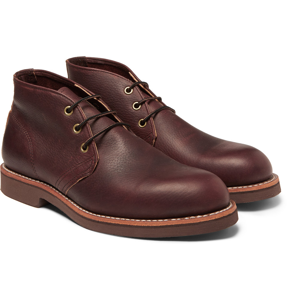lyst red wing foreman leather chukka boots in brown for men. Black Bedroom Furniture Sets. Home Design Ideas