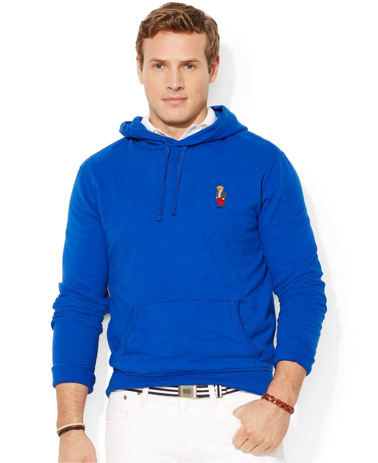 e21498b3a Polo Ralph Lauren Big And Tall Bear Pullover Fleece Hoodie in Blue ...