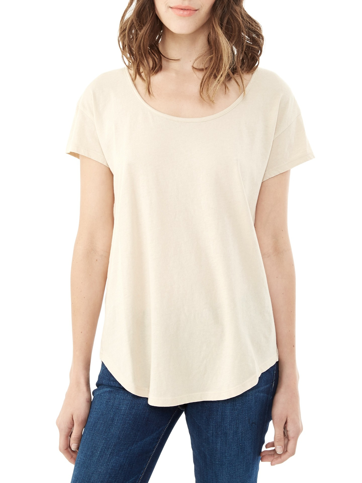 Alternative Apparel Organic Cotton T Shirt In Natural Lyst