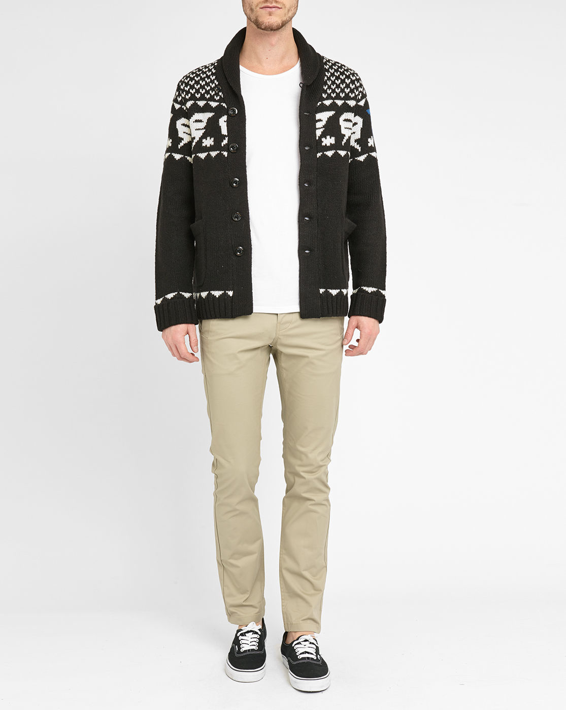 g star raw black pr draha jacquard cardigan in black for. Black Bedroom Furniture Sets. Home Design Ideas