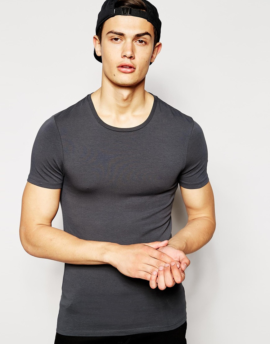 Lyst Asos Extreme Muscle Fit T Shirt With Crew Neck And