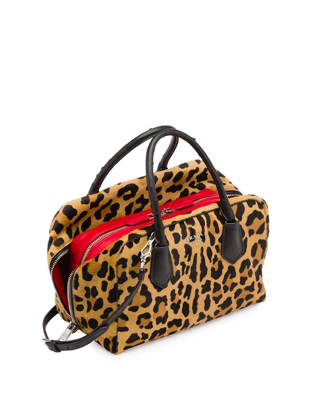 22561c1efaa6 Prada Calf Hair & Ostrich Medium Inside Bag - Lyst