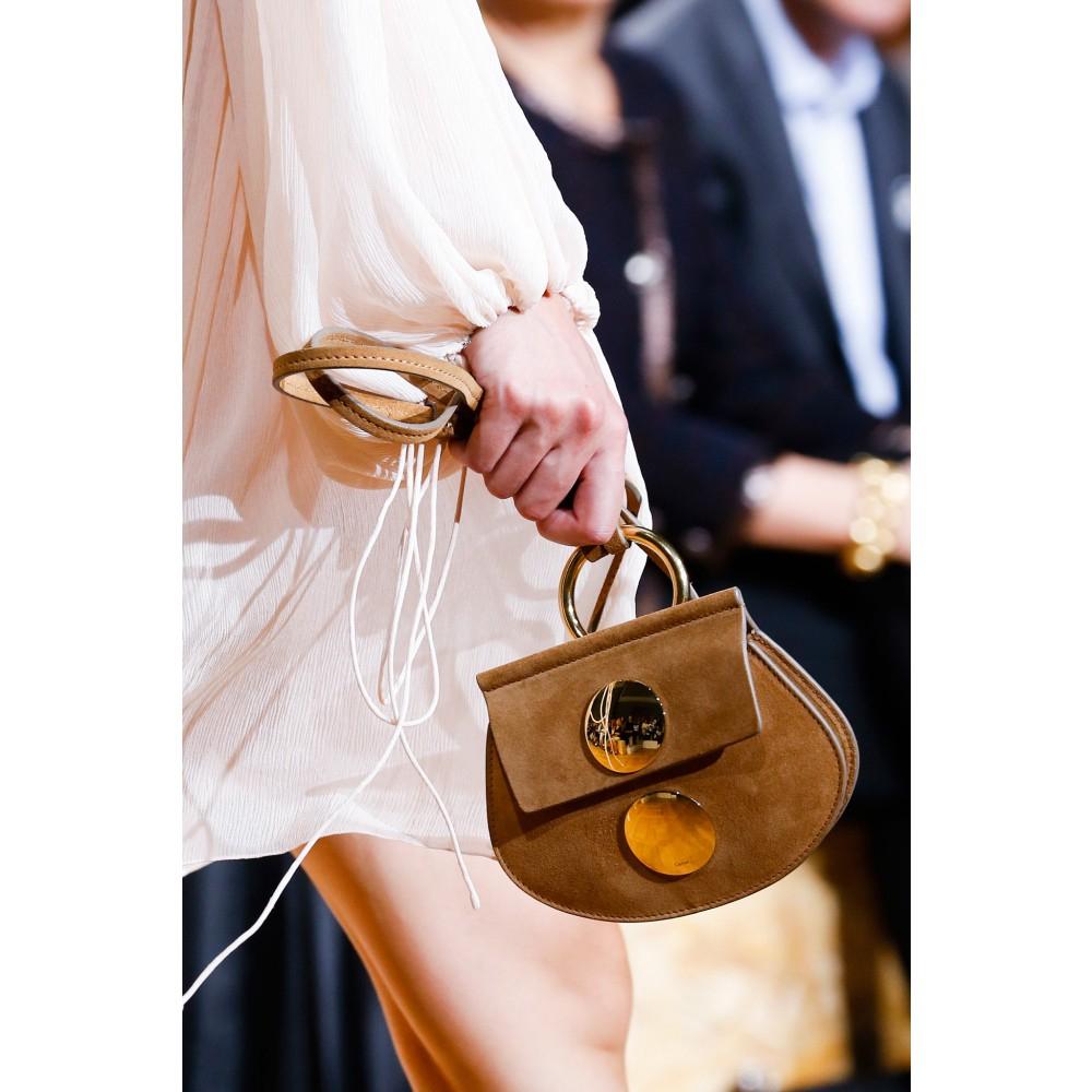 Lyst - Chloé Faye Mini Suede Shoulder Bag in Metallic d8b3bd0ffe90