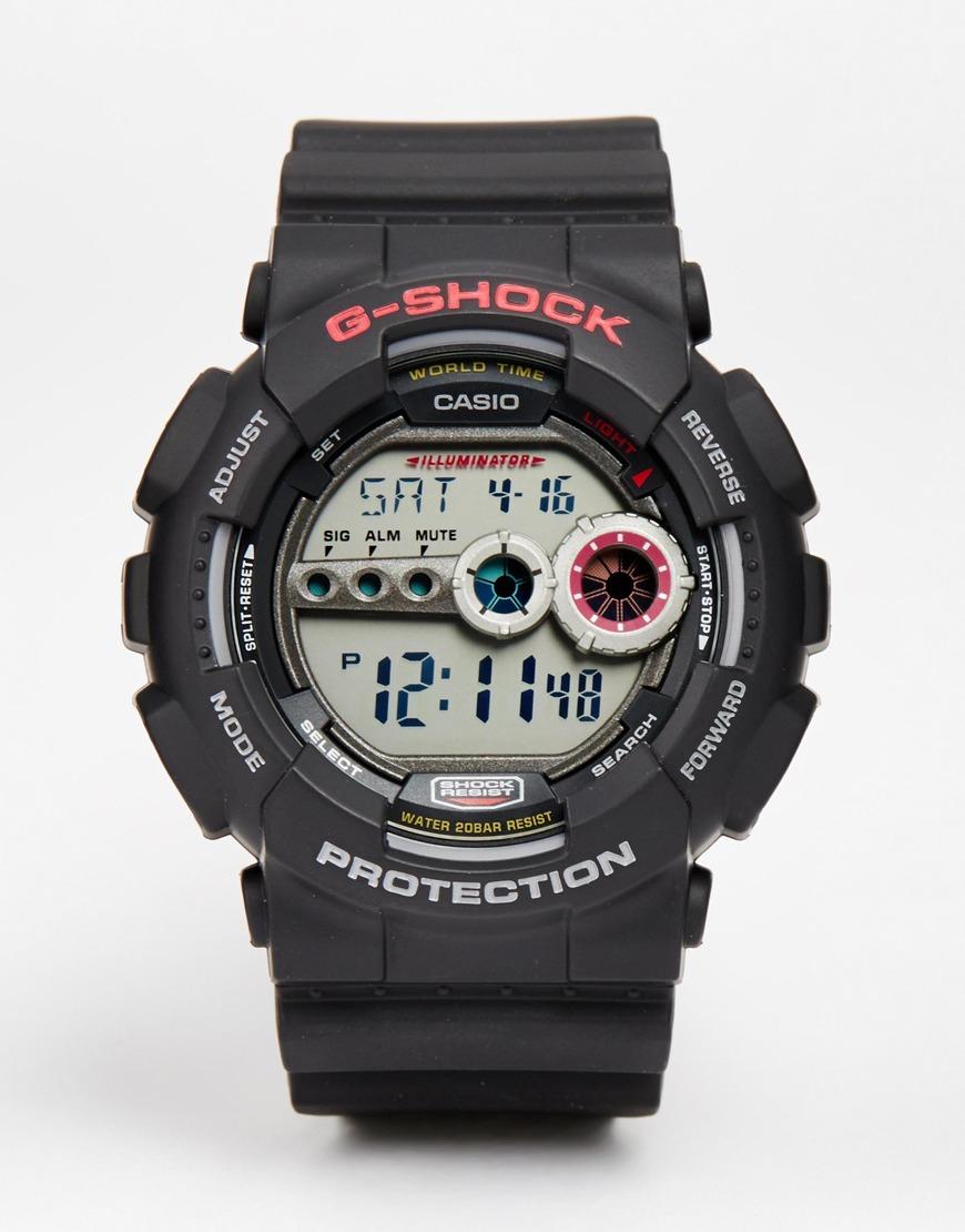 g shock g shock digital gd 100 1aer in black for