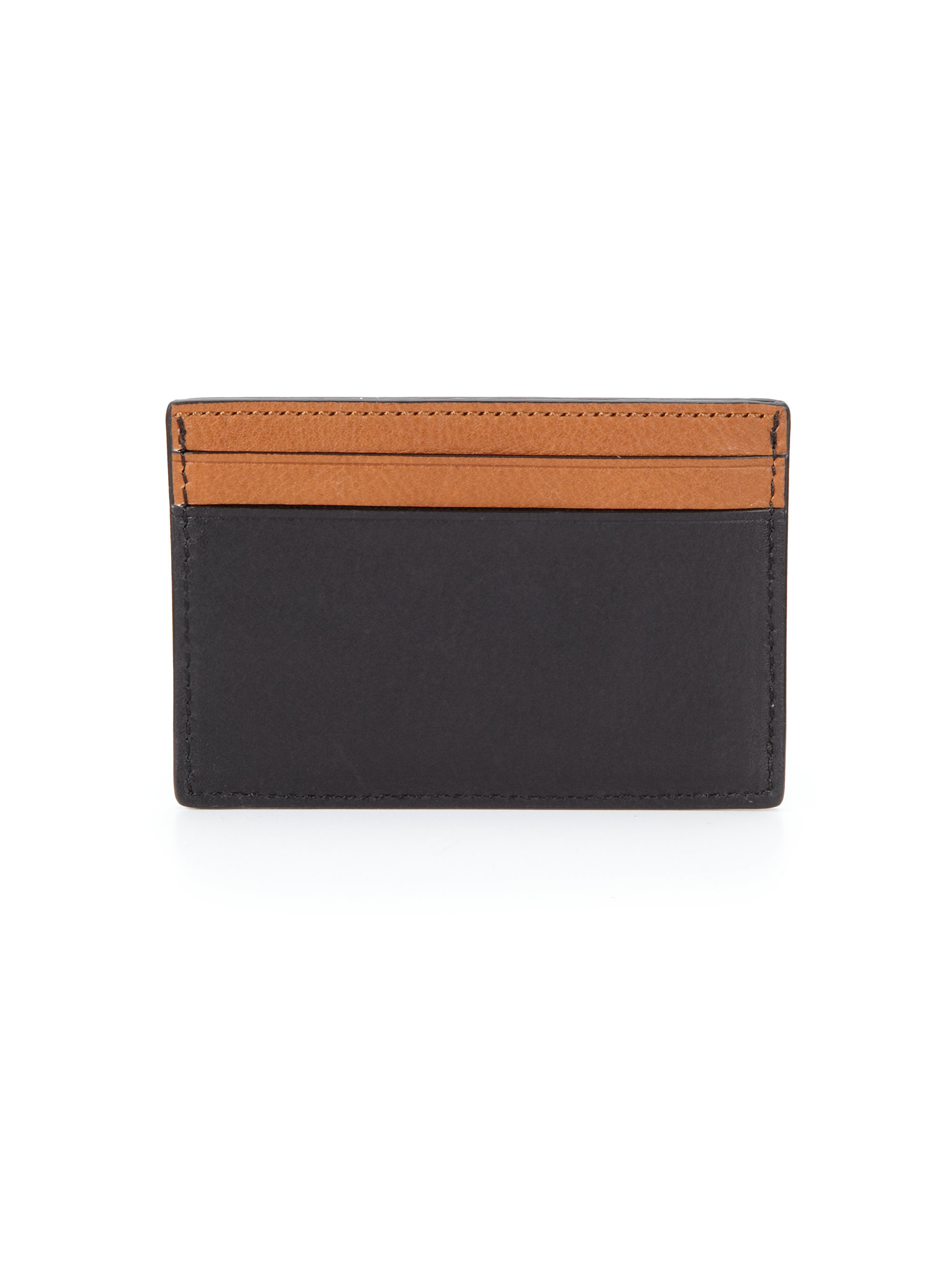 Lyst - Coach Leather Card Case in Black for Men