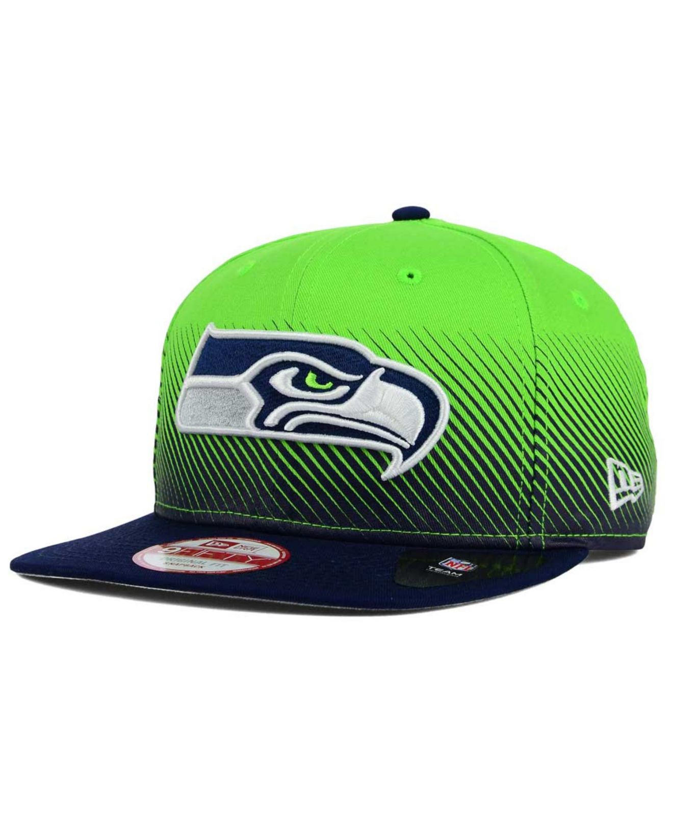 new style 41767 a99dc ... cheap lyst ktz seattle seahawks line fade 9fifty snapback cap in green  49f7b 9e7b4