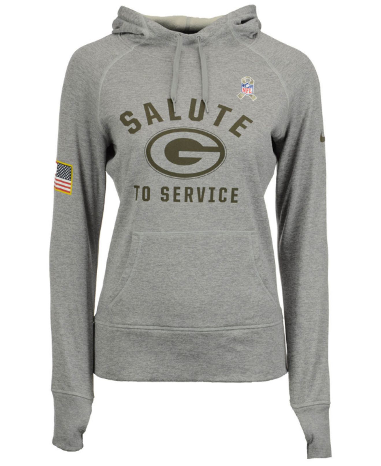 Lyst - Nike Women s Green Bay Packers Salute To Service Hoodie in Gray 647ba220d