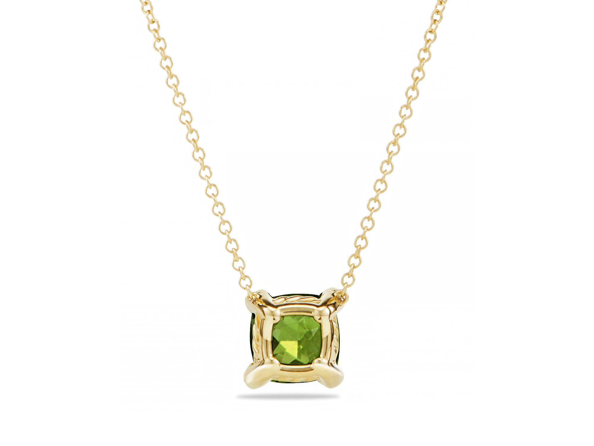 David Yurman Ch 226 Telaine Pendant Necklace With Peridot And