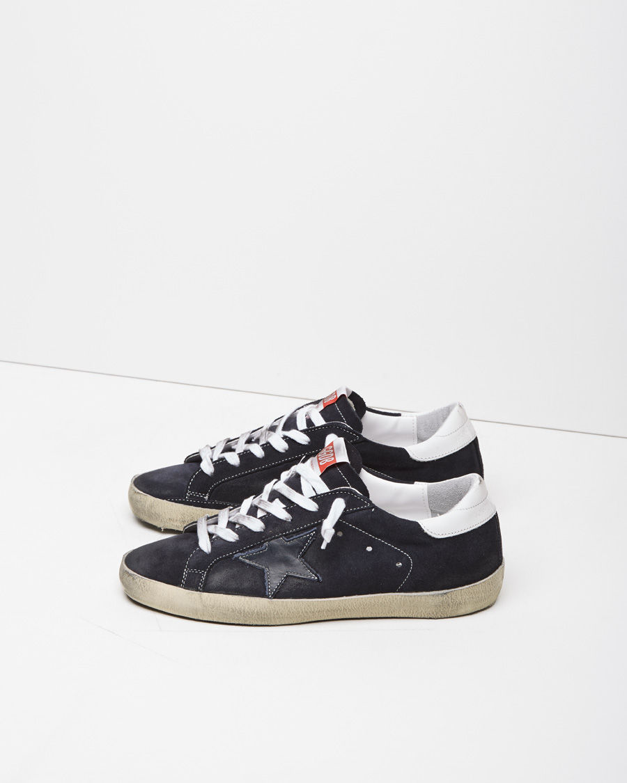 3147860bafc Golden Goose Deluxe Brand Superstar Suede Low-Top Sneakers in Blue ...