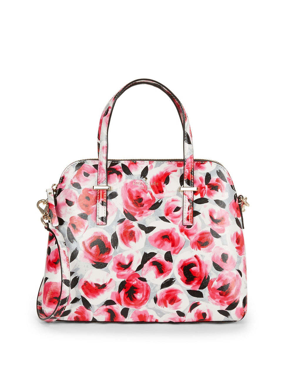 Kate Spade New York Maise Floral Dome Bag In Red | Lyst