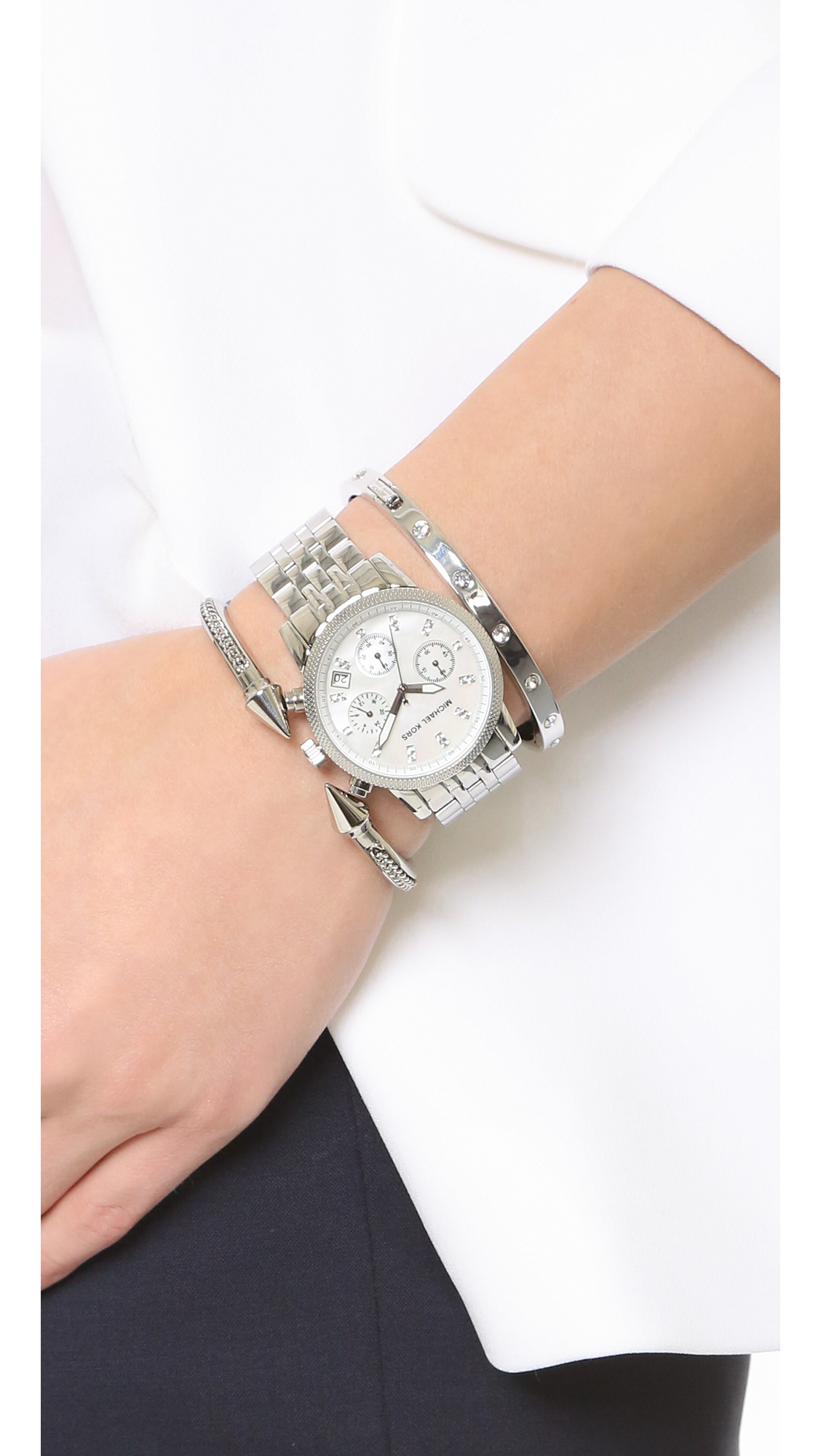 7ccde777aeca Michael Kors Ritz Rose Gold Tone Watch Style Mk6357 - Image Of Bear ...
