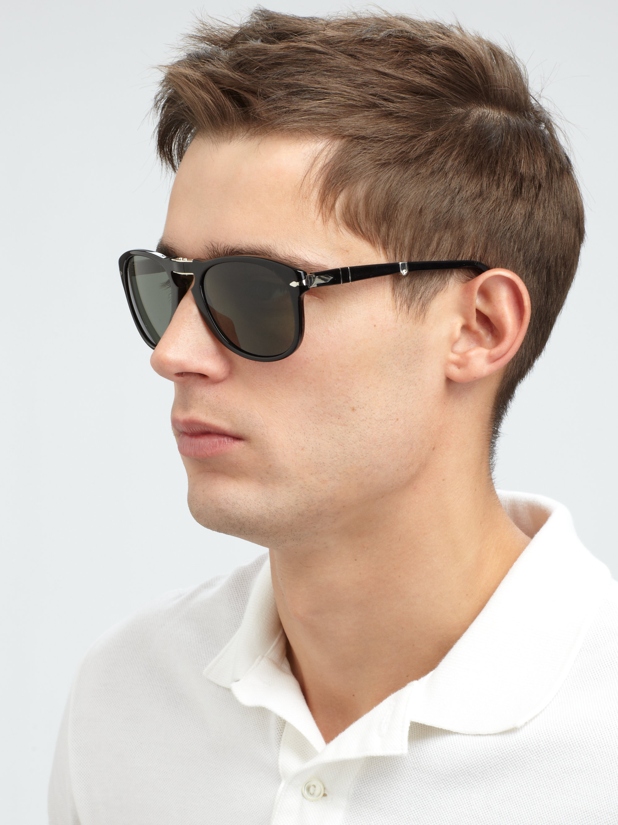 Persol Folding Sunglasses  persol vintage folding keyhole sunglasses in black for men lyst