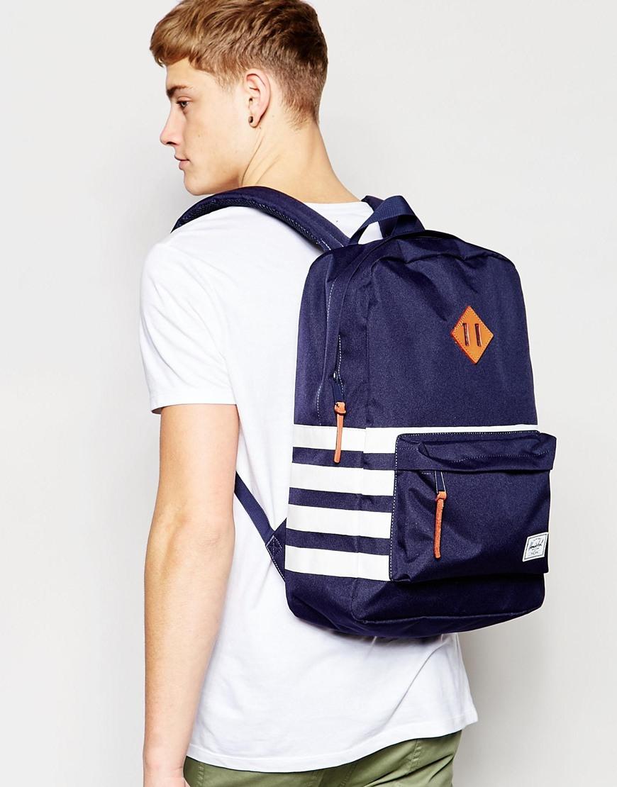 c3884007403 Lyst - Herschel Supply Co. Heritage Offset Backpack in Blue for Men