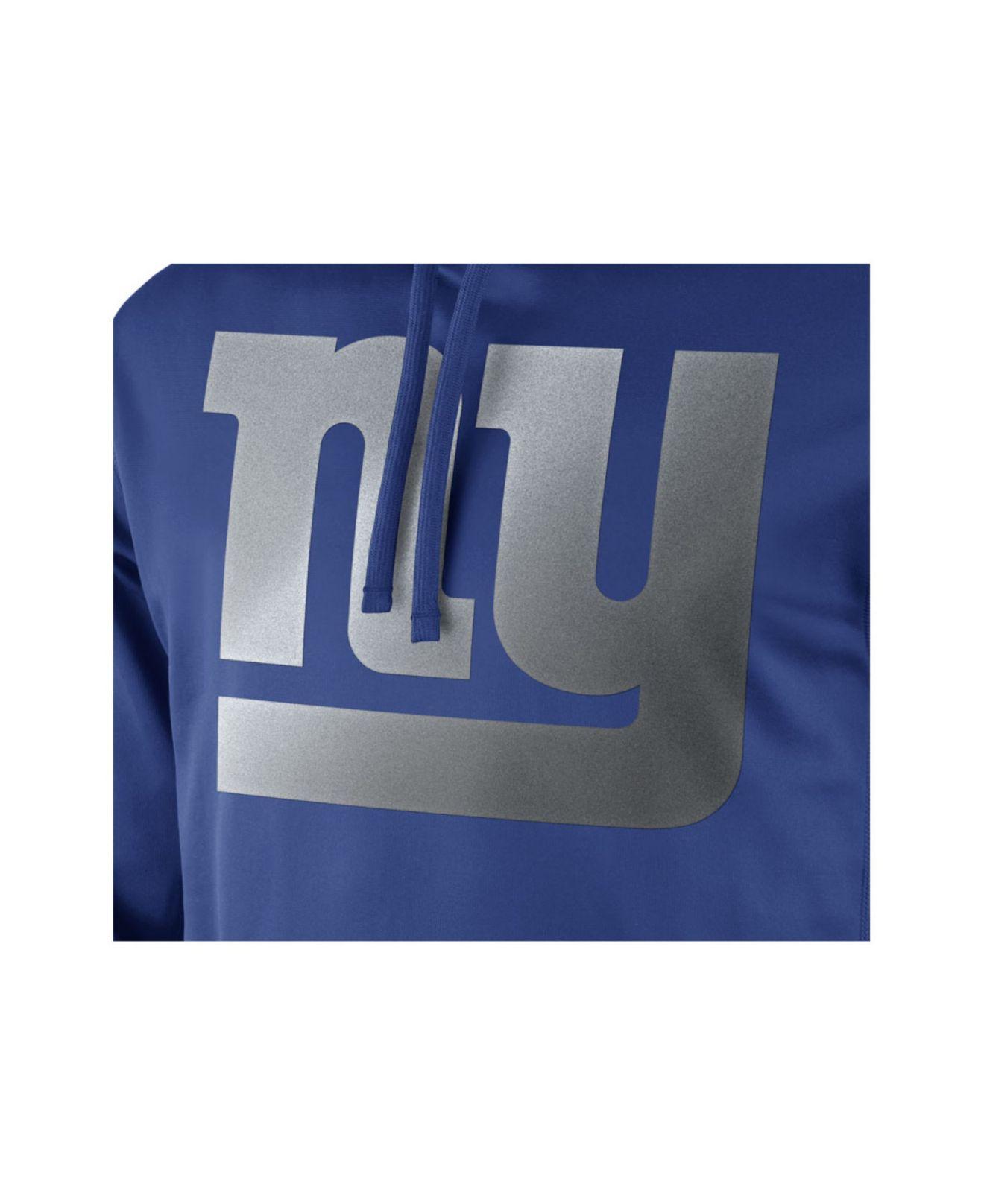 Lyst - Nike Men s New York Giants Reflective Ko Hoodie in Blue for Men 363c65cc3