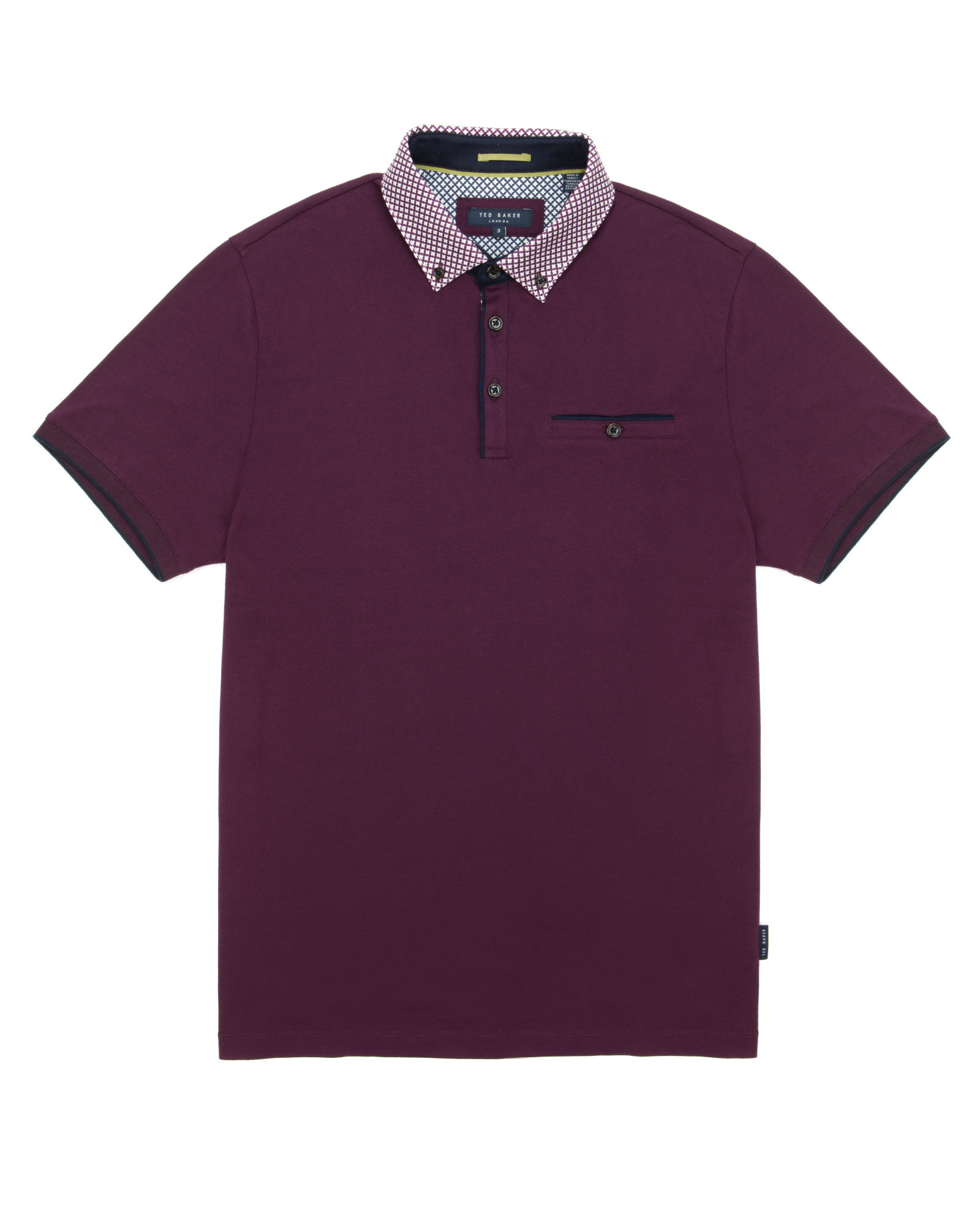 61b1dc8a02 Lyst - Ted Baker Mayford Polo Shirt in Purple for Men