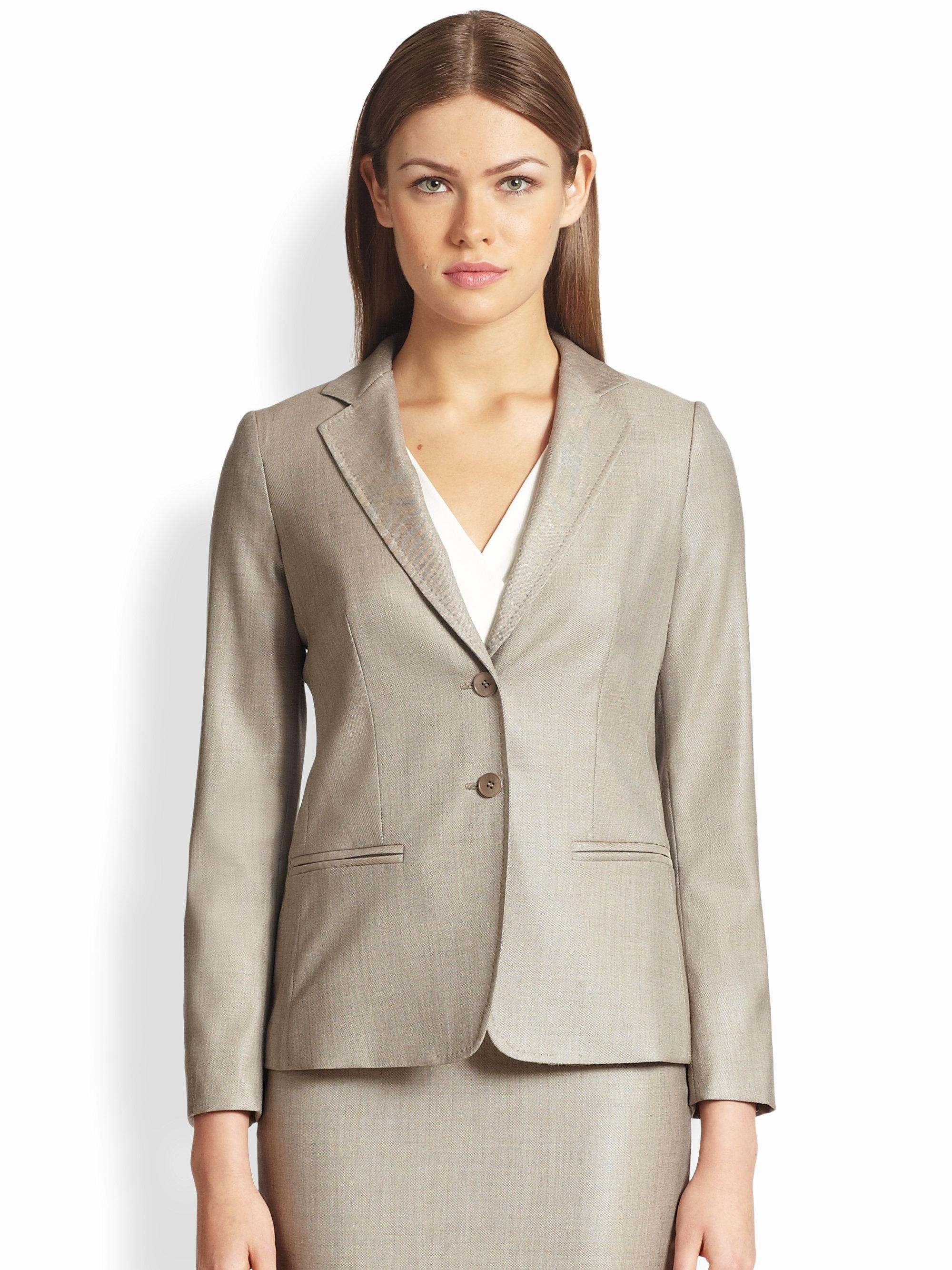 12b92601d88b7 Lyst - Max Mara Goccia Wool Silk Jacket in Gray