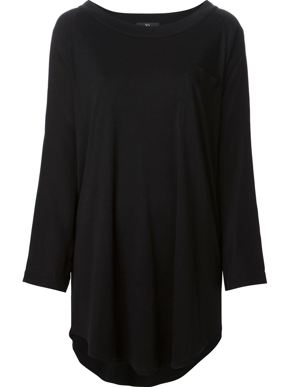 Lyst Y 39 S Yohji Yamamoto Deep U Neck Loose Fit T Shirt In
