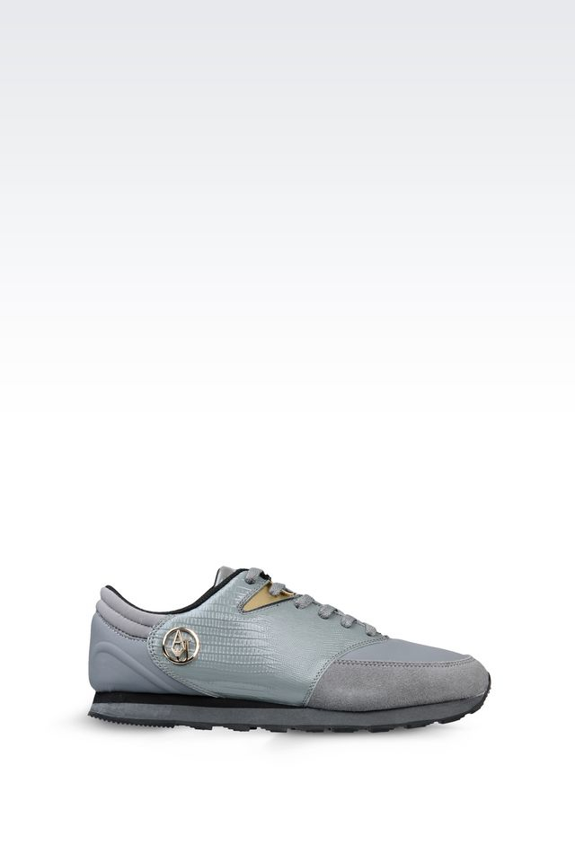 armani jeans sneaker in gray lyst. Black Bedroom Furniture Sets. Home Design Ideas
